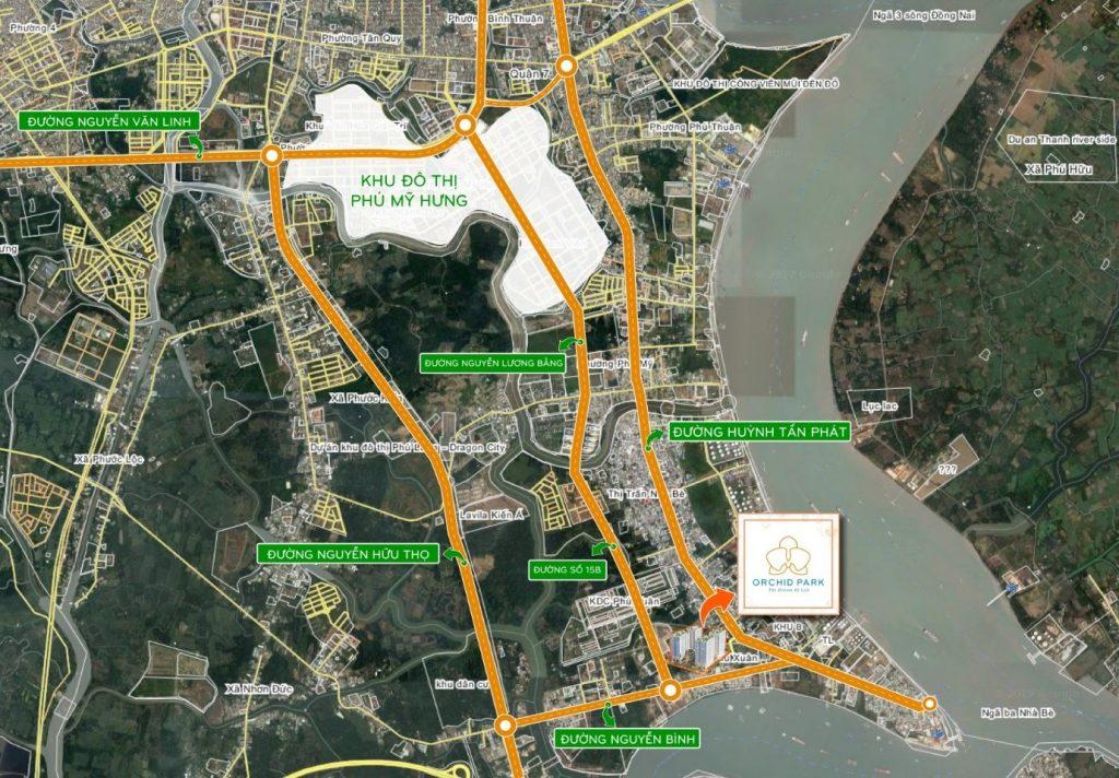 Đường Nguyễn Lương Bằng nối dài và mở rộng lộ giới đường Nguyễn Hữu Thọ
